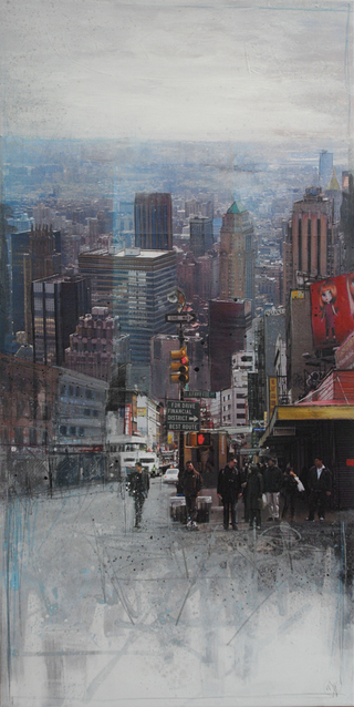 """NYC"" mixed media, canvas, 60 x 120 cm ...mrs more (stefanie ramsel)"