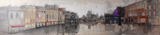 """MORECITY"" mixed media, canvas, 160 x 40 cm ...mrs more (stefanie ramsel)"